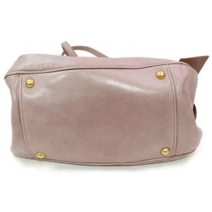 Miu Miu Hobo 2way 871881 Pink Leather Shoulder Bag