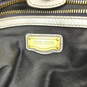Miu Miu Beige x Brown Leather 2way Tote Bag 861528