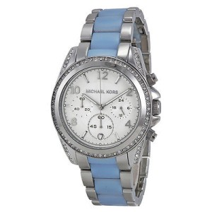 Michael Kors MK6137 39mm Blair Silver Chronograph Watch