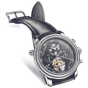 "Blancpain ""Léman Tourbillon"" Chronograph Rattrapante Platinum Mens Watch"