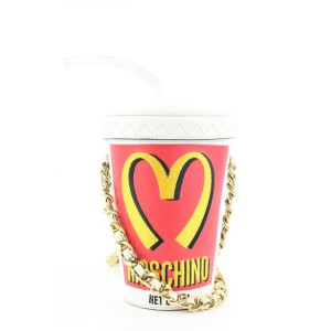 Moschino Jeremy Scott Milkshake Soda Chain Crossbody Bag 543mos310
