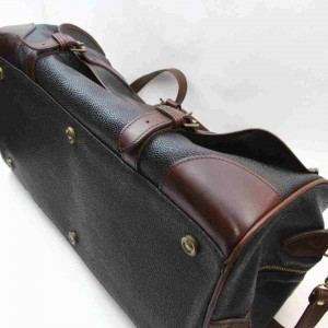Mulberry Large Black x Brown Duffle with Strap Travel Boston 860550