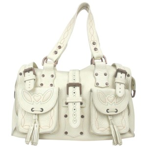 Mulberry White Leather Roxanne Bag 861573