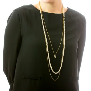 Perlatelier Gold-Plated Silhouette Necklace