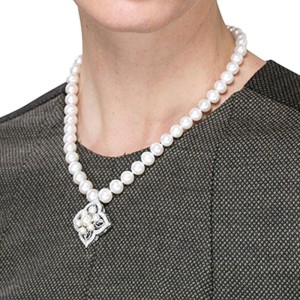 Perlatelier White Round Freshwater Pearl Necklace