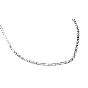John Hardy Sterling Silver and Black Sapphire Necklace