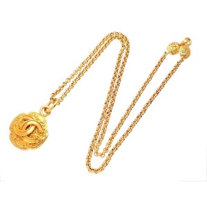 Vintage Chanel Necklace Clover CC