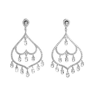 Odelia 18K White Gold Diamond Chandelier Earrings