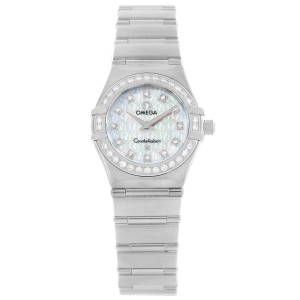 85457624653 Omega Constellation 1460.75.00 Stainless Steel Mother of Pearl Dial Diamond  Quartz 22.5mm Womens
