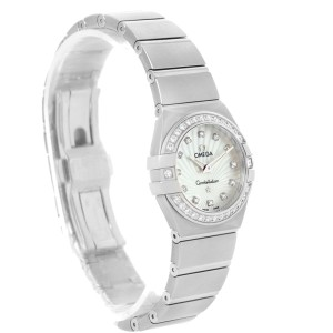 Omega Constellation 123.15.24.60.55.004 Stainless Steel Mother of Pearl Diamond 24mm Womens Watch