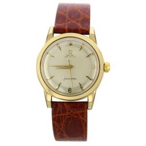 Omega Seamaster Automatic Vintage Watch Crocodile Brown Band