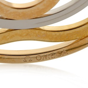 Omega 18K Rose, White and Yellow Gold Flower Pendant