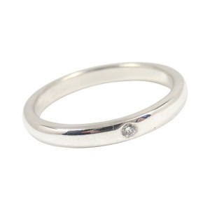 Tiffany & Co. Peretti Sterling Silver Diamond Stacking Band Ring