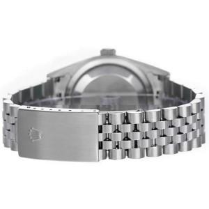 Rolex Men's Datejust Stainless Steel Custom Black Diamond Dial