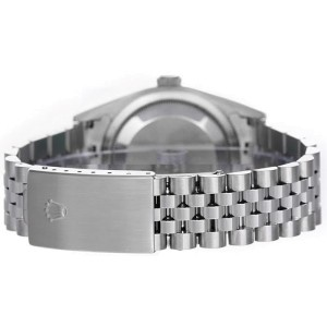 Rolex Men's Datejust Stainless Steel Custom Silver Diamond Dial