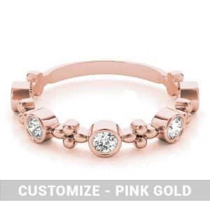 TEST - 5 Diamond Stackable Ring - 14k White Gold