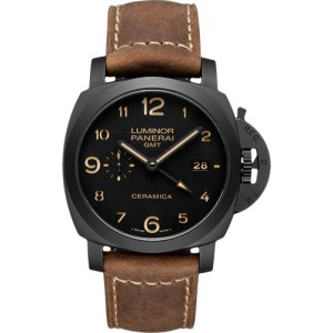 Panerai Luminor Titanium / Leather with Black Dial 44mm Mens Watch