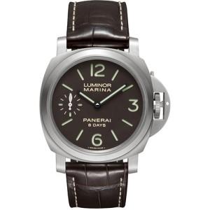 Panerai Luminor Marina Titanium / Leather Mechanical 44mm Mens Watch