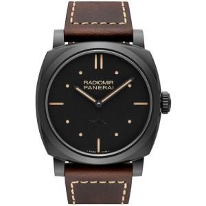 Panerai Radiomir Matt Black Ceramic / Leather 48mm Mens Watch