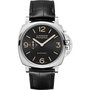 Panerai Luminor Stainless Steel / Leather Automatic 45mm Mens Watch