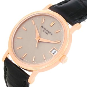 Patek Philippe Calatrava 3802R 18K Rose Gold Automatic 33mm Mens Watch