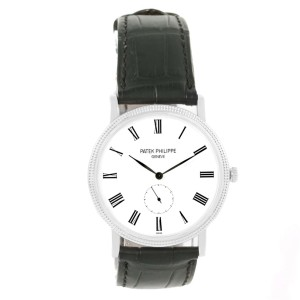 Patek Philippe Calatrava 5119G 18K White Gold & Leather Manual 36mm Mens Watch
