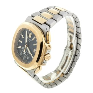 Patek Phillipe Nautilus Mens Steel and Gold Watch