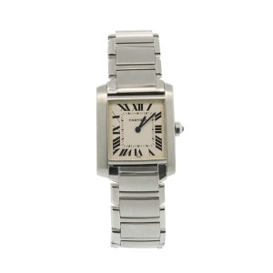 Cartier Tank Francaise Stainless Steel Womens Watch
