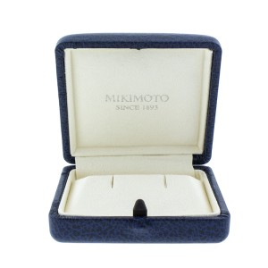 Mikimoto 18K White Gold Akoya Pearl and Diamond Necklace
