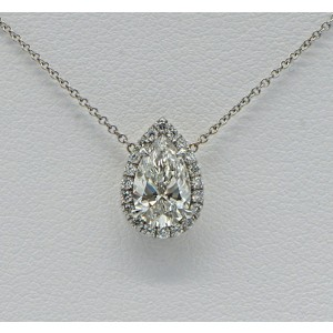 Sea Wave Diamonds 14k White Gold G SI2 1.01CT Diamond Necklace