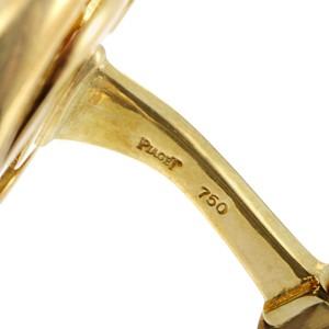 Piaget 18K & 22K Yellow Gold Diamond Coin Cufflinks