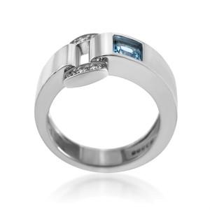 Piaget Miss Protocole 18K White Gold Diamond & Topaz Ring