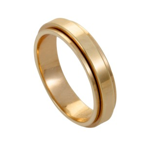 Piaget 18K Rose Gold Band Ring Size 7.25