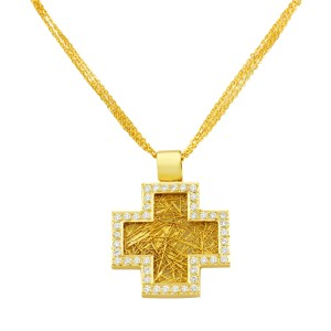 18K Deep Faith Pendant Cross