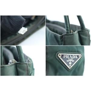 Prada 2pr0215 Hunter Green Nylon Shoulder Bag