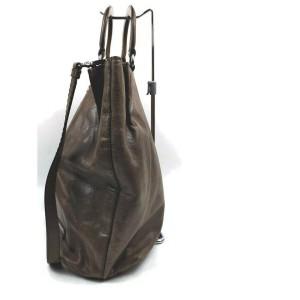 Prada Grey Leather 2way Tote Bag 862332