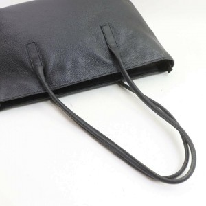 Prada  Black Leather Shopper Tote Bag 862070