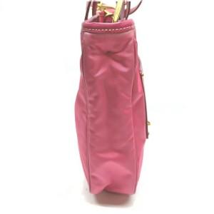 Prada Pink Tessuto Nylon Convertible Tote Bag with Strap 863147