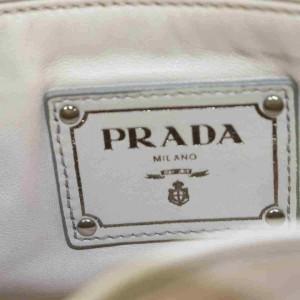 Prada Beige-cream Chain Flap 873003 Cream Leather Shoulder Bag