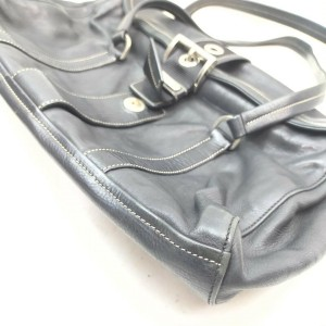 Prada Black Leather Belt Motif Shoulder Bag 862418