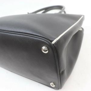 Prada Bicolor Black Leather Saffiano Luxe Tote  863062