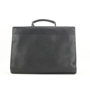 Prada Black Saffiano Briefcase Bag Attache 11pr114