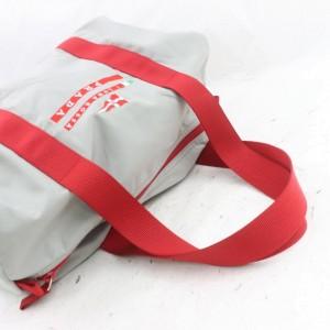 Prada Boston Duffle Luna 872158 Rossa Edition Gray Nylon Shoulder Bag