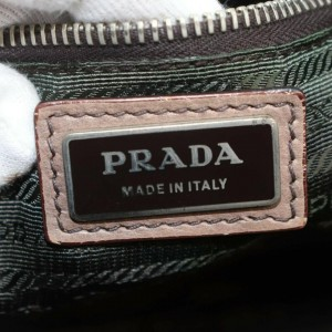 Prada Brown x Beige Gradient Bowler Boston with Strap 861221