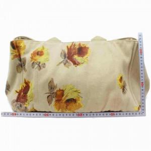Prada Canapa Floral Canapatote Flower Motif 860014 Beige Canvas Tote