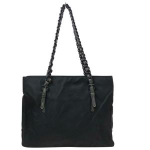 Prada Black Chain Tote Shopper 870605