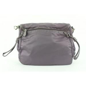 Prada Purple Tessuto Nylon Messenger Crossbody Bag 1pr416