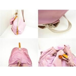 Prada Double Tessuto Pocket 230930 Pink Nylon Backpack