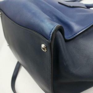 Prada 872320 Blue Bicolor Galleria Tote with Strap 2way