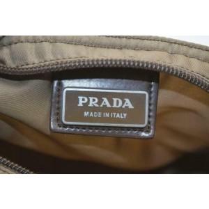 Prada Khaki Tessuto 870943 Brown Nylon Cross Body Bag